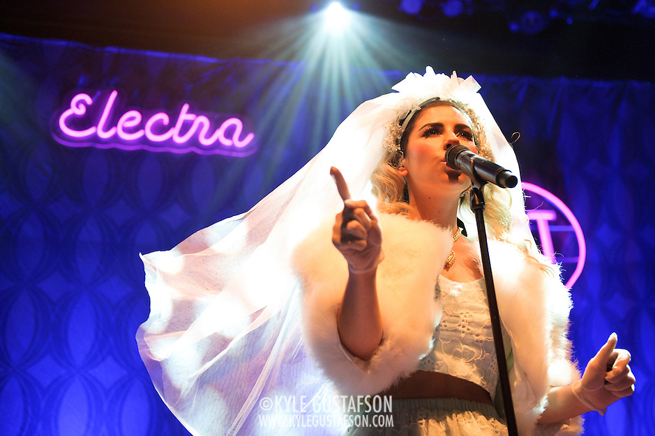 WASHINGTON, DC - August 14th, 2012 - Marina and the Diamonds perform at the 9:30 Club in Washington, D.C. The group's sophomore album, Electra Heart, was released in April and debuted at number 1 on the UK Albums Chart.  (Photo by Kyle Gustafson/For The Washington Post) (Kyle Gustafson/For The Washington Post)