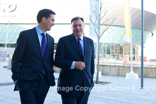 Ed Milliband & Ed Balls at Labour Party Conference, ACC Liverpool 2011 - photo by Simon Kirwan