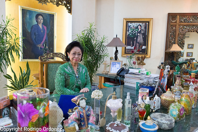 Martha Tilaar, founder of the Martha Tilaar Group, poses for a portrait at her office in East Jakarta, Indonesia, on July 2, 2015. (Rodrigo Ordonez)