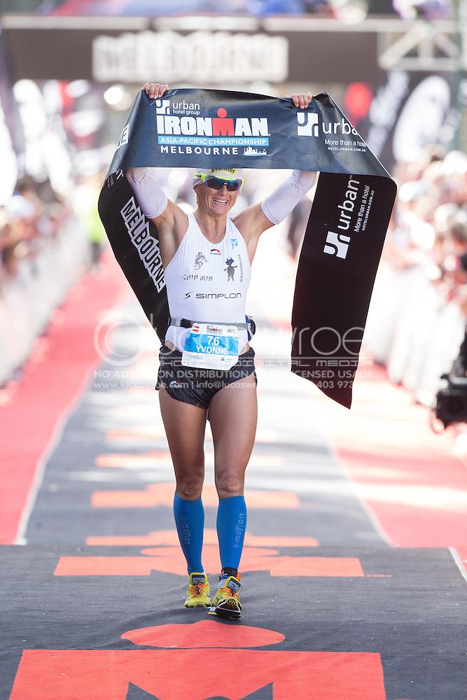 Yvonne VAN VLERKEN (GER). Ironman Asia Pacific Championship Melbourne. Triathlon. Frankston And St Kilda, Melbourne, Victoria, Australia. 24/03/2013. Photo By Lucas Wroe (Lucas Wroe)