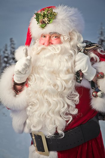 Santa Claus, Downtown Anchorage (Clark James Mishler)