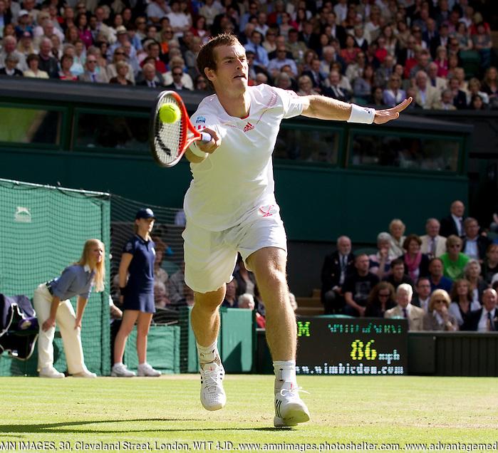 Andy Murray..Tennis - Grand Slam - The Championships Wimbledon - AELTC - The All England Club - London - Fri July 6th 2012. .© AMN Images, 30, Cleveland Street, London, W1T 4JD.Tel - +44 20 7907 6387.mfrey@advantagemedianet.com.www.amnimages.photoshelter.com.www.advantagemedianet.com.www.tennishead.net (FREY - AMN IMAGES)