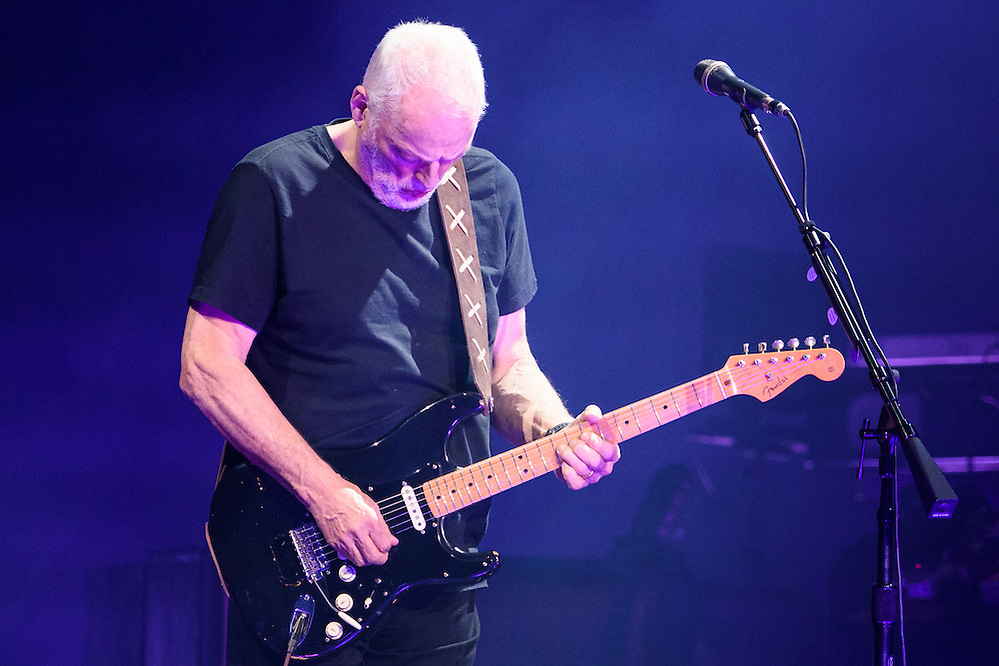 "Photos of David Gilmour performing live on the ""Rattle That Lock"" World Tour 2016 at Madison Square Garden, NYC on April 12, 2016. © Matthew Eisman/ Getty Images. All Rights Reserved (Photo by Matthew Eisman/ Getty Images)"