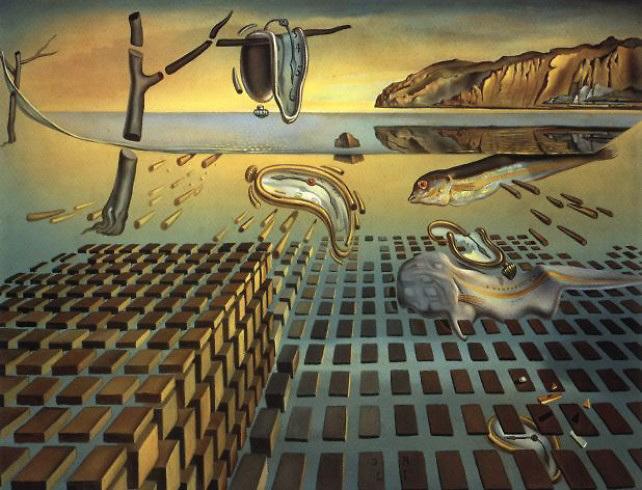 Desintegración de la persistencia de la memoria. Salvador Dalí