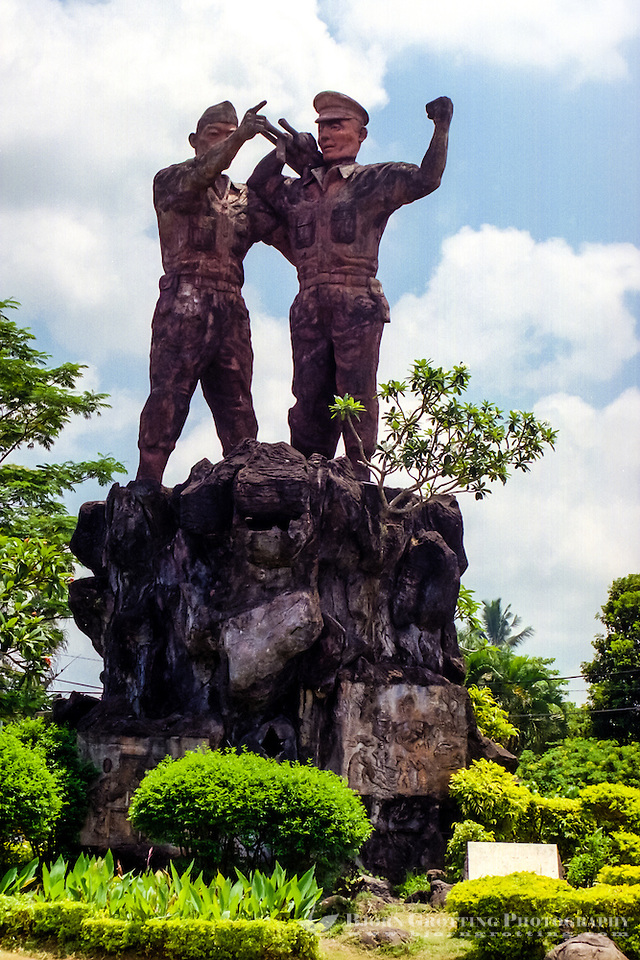 Bali, Tabanan. A patriotic monument in memory of the freedom fighters who gave their life for Indonesia's independence. Tababan city. (Photo Bjorn Grotting)