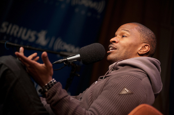 "Washington, DC, December 16, 2010 - Jamie Foxx stops by Sirius XM's 1500 Eckington facility to discuss life, music, and his new album ""Best Night of My Life"". (Jesse Justice)"