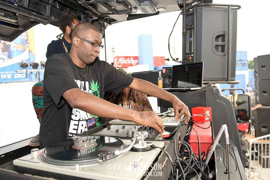 WASHINGTON, DC - August 11th, 2012 - David Heartbreak dj's at the inaugural Trillectro Festival at the Half Street Fairgrounds in Washington, D.C. The festival was a combination of hip-hop and dance acts, bringing together fans of both genres.  (Photo by Kyle Gustafson/For The Washington Post) (Kyle Gustafson/For The Washington Post)