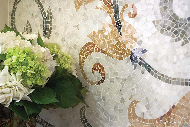 Tamsin marble mosaic detail. (New Ravenna Mosaics)