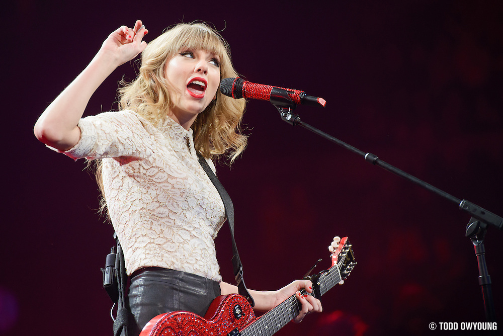 Taylor Swift performing on the RED Tour 2013 at the Scottrade Center in St. Louis, MO on March 18, 2013. (Todd Owyoung)