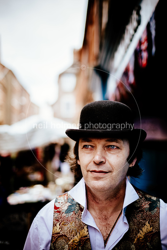 City Centre, Kingston Upon Hull, East Yorkshire, United Kingdom, 04 April, 2015. Pictured: Edwardian Easter event, Old Town, Denis , Landlord of the Sailmakers, High Street (Neil Holmes)