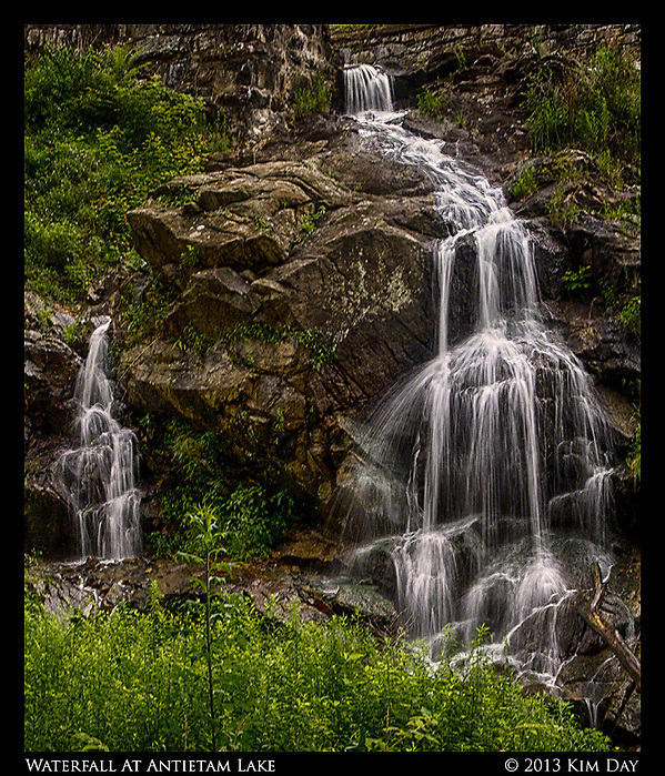 Waterfall at Antietam Lake Reading, PA July 2013 (Kim Day)
