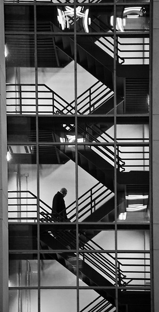 Stairwell, parking structure, downtown Anchorage (Clark James Mishler)
