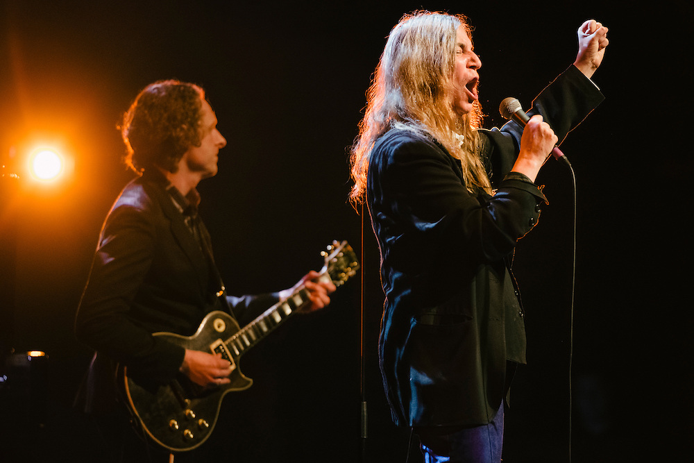 Photos of musician Patti Smith performing live for 'Stopp - Let's Protect the Park' nature benefit concert at Harpa concert hall in Reykjavík, Iceland. March 18, 2014. Copyright © 2014 Matthew Eisman. All Rights Reserved (Matthew Eisman/Photo by Matthew Eisman)