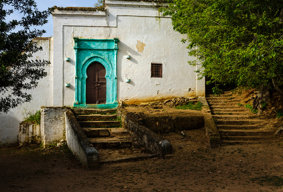 RABAT, MOROCCO - CIRCA APRIL 2017: Abandoned building in the Chellah, an ancient citadel featuring Roman ruins an royal tombstones in Rabat. (Daniel Korzeniewski)