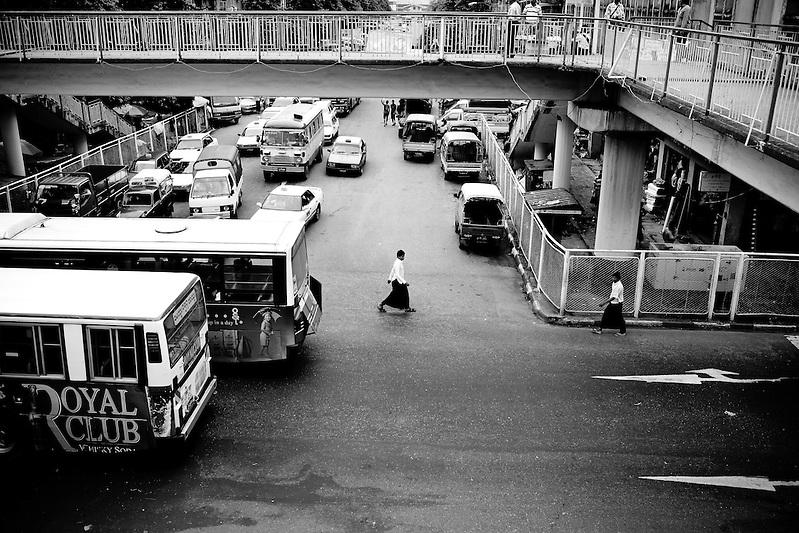 A street scene in Yangon, Myanmar. (Quinn Ryan Mattingly)