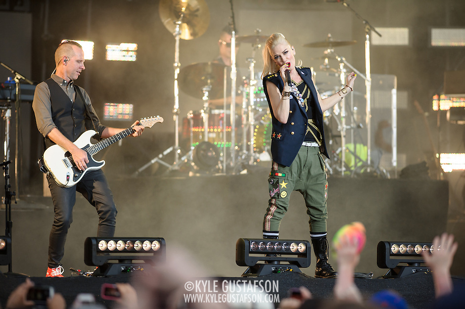 WASHINGTON, D.C. - April 18th, 2015 - Tom Dumont, Adrian Young, Gwen Stefani and Gabe McNair of No Doubt performs at the Global Citizen 2015 Earth Day concert on the National Mall in Washington, D.C. (Photo by Kyle Gustafson / For The Washington Post) (Kyle Gustafson/For The Washington Post)