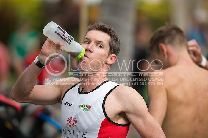 Cameron Brown (NZL), June 1, 2014 - TRIATHLON : Coral Coast 5150 Triathlon, Cairns Airport Adventure Festival, Four Mile Beach, Port Douglas, Queensland, Australia. Credit: Lucas Wroe (Lucas Wroe)