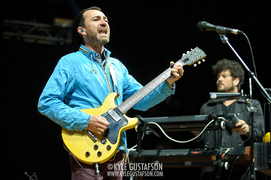 COLUMBIA, MD - April 28th, 2012 -   James Mercer (left) of The Sins performs at the 2012 Sweetlife Food and Music Festival at Merriweather Post Pavilion in Columbia, MD.  The band is currently touring behind their latest album, Port of Morrow. (Photo by Kyle Gustafson/For The Washington Post) (Kyle Gustafson/FTWP)