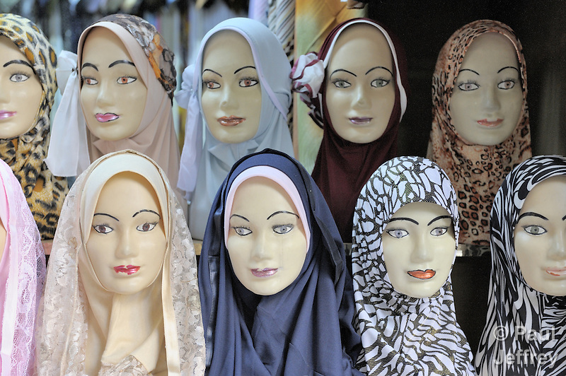 A store selling head scarves for Muslim women in the old city of Damascus, Syria. (Paul Jeffrey)