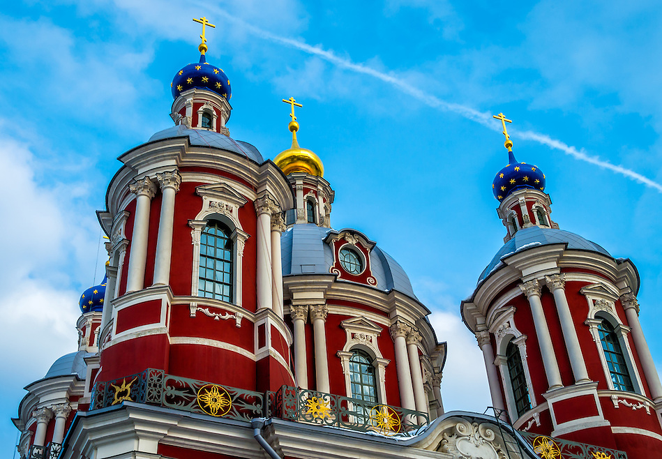 Architectural detail of dome in the St. Clement's Church in Moscow (Daniel Korzeniewski)