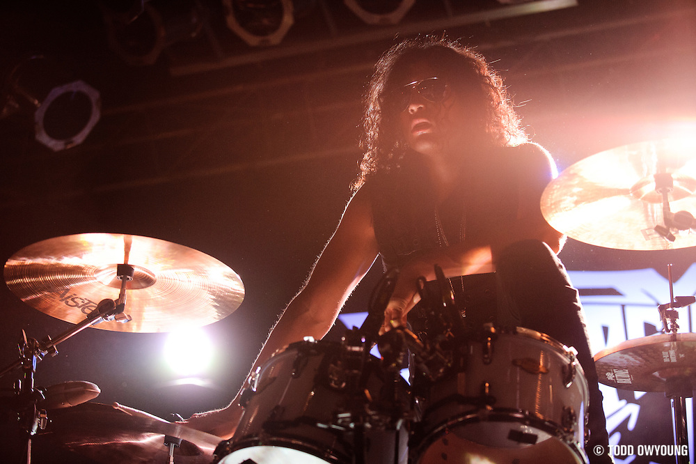 Photos of the band Escape The Fate performing on February 21, 2011 at Pop's in Sauget, IL. (Todd Owyoung)