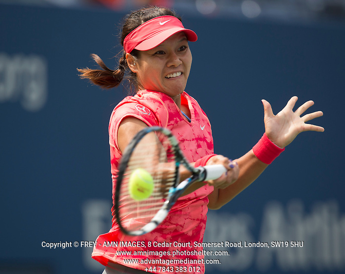 Na Li Tennis - US Open  - Grand Slam -  Flushing Meadows  2013 -  New York - USA - United States of America - Tuesday 27th August 2013.  © AMN Images, 8 Cedar Court, Somerset Road, London, SW19 5HU Tel - +44 7843383012 mfrey@advantagemedianet.com www.amnimages.photoshelter.com www.advantagemedianet.com www.tennishead.net (FREY - AMN IMAGES)