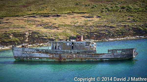 An Old Shipwreck Off New Island, Falkland Islands (Islas Malvinas). Image taken with a Leica T camera and 18-56 mm lens (ISO 100, 56 mm, f/6.2, 1/200 sec). Raw image processed with Capture One Pro 8, Focus Magic, and Photoshop CC. (David J Mathre)