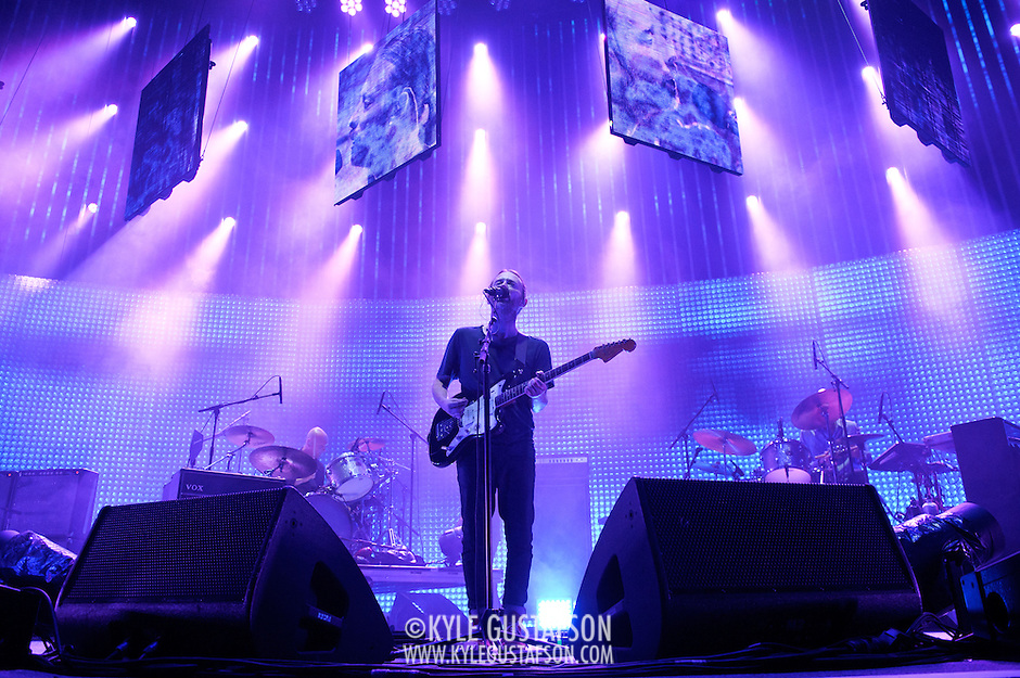 WASHINGTON, DC - June 3rd, 2012 - Thom Yorke  of Radiohead performs at the Verizon Center in Washington, D.C.  It was the first time the band performed in the metro-D.C. area since their infamous show in the rain at Nissan Pavilion in 2008. (Photo by Kyle Gustafson/For The Washington Post) (Kyle Gustafson/For The Washington Post)