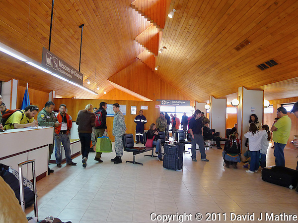 Puerto Natales Regional Airport Terminal. Snapshot taken with a Leica D-Lux 5 camera (ISO 250, 5.1 mm, f/2, 1/60 sec). (David J Mathre)