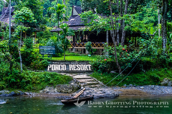 Indonesia, Sumatra. Bukit Lawang. Gunung Leuser National Park. The river crossng from Bukit Lawang to the park entrance. (Photo Bjorn Grotting)