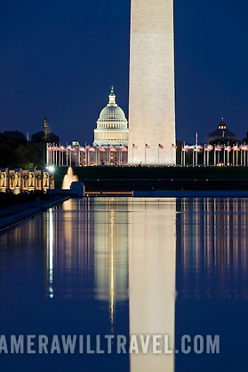 washington monument at night with reflection on the reflecting pool washington monument washington h106201953 US Capitol Buildings Exterior
