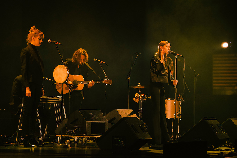 Photos of musician Lykke Li performing live for 'Stopp - Let's Protect the Park' nature benefit concert at Harpa concert hall in Reykjavík, Iceland. March 18, 2014. Copyright © 2014 Matthew Eisman. All Rights Reserved (Matthew Eisman/Photo by Matthew Eisman)