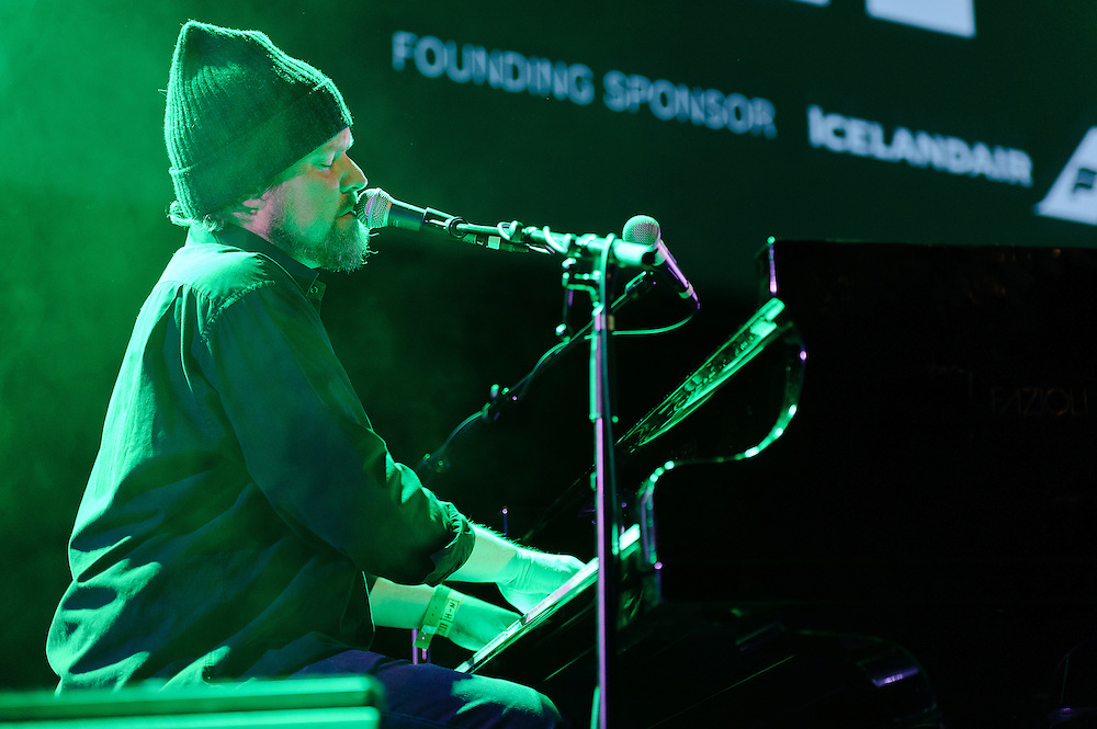Photos of the musician John Grant performing at Harpa for Iceland Airwaves music festival. October 15, 2011. Copyright © 2011 Matthew Eisman. All Rights Reserved. (Matthew Eisman)