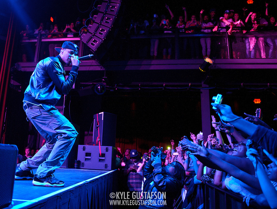 SILVER SPRING, MD - September 15th, 2011 - J. Cole performs at The Fillmore Silver Spring. Cole's debut album, Cole World: The Sideline Story, debuted at number one on the US Billboard 200 chart. (Photo by Kyle Gustafson/For The Washington Post) (Kyle Gustafson/FTWP)
