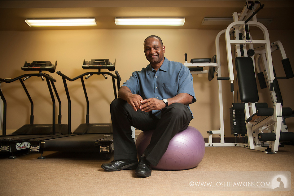 Community Service.Derris Hunt..Derris Hunt is a personal trainer who volunteers with the Nevada Center for the Blind.  When he noticed that there weren't many options available for the blind community to pursue fitness, he wanted to change that.  Derris collected donations for the cause and purchased the needed equipment to build a fitness center for the blind.  Each week he teaches them to use the equipment and has been able to help blind individuals gain confidence and new skills that have changed their lives. (Josh Hawkins)