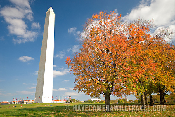 j315123240 washington monument with fall leaves washington monument washington Where to Find Fall Foliage In & Around Washington DC