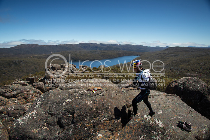 Team Red Bull (Ken Wallace and Courtney Atkinson). Adventure Racing. Swisse Mark Webber Challenge 2013. Tasmania, Australia. 30/11/2013. Photo By Lucas Wroe (Lucas Wroe)