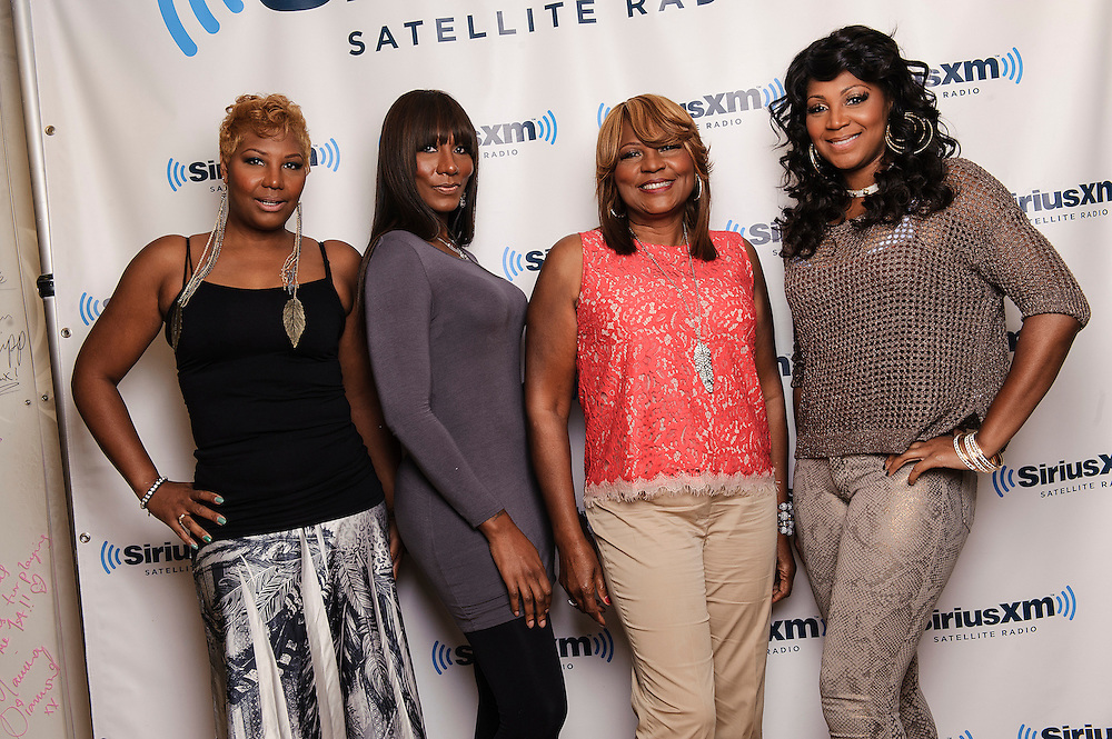(L-R) Portraits of Traci Braxton, Towanda Braxton, Evelyn Braxton and Trina Braxton of WE tv's 'Braxton Family Values at SiriusXM Studios, NYC. August 16, 2012. Copyright © 2012 Matthew Eisman. All Rights Reserved. (Photo by Matthew Eisman/ Getty Images)