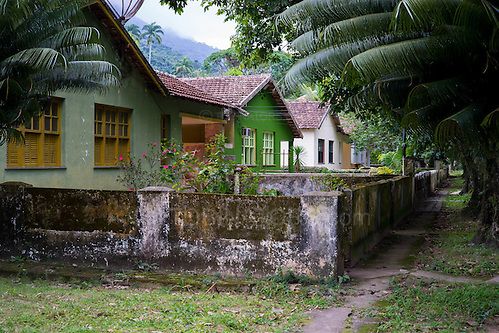 A quiet street of houses in Dois Rios on the island of Ilha Grande, Brazil. Photo by Andrew Tobin/Tobinators Ltd (Andrew Tobin/Tobinators)