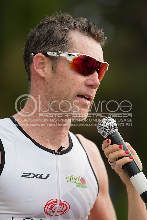 Cameron Brown (NZL), June 1, 2014 - TRIATHLON : Coral Coast 5150 Triathlon, Cairns Airport Adventure Festival, Four Mile Beach, Port Douglas, Queensland, Australia. Credit: Lucas Wroe (Lucas Wroe)