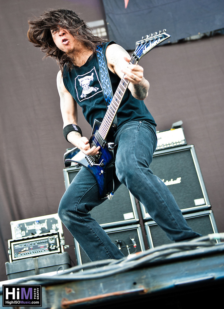 Death Angel performing at Heavy MTL 2011 in Montreal, QC. (Golden G. Richard III)