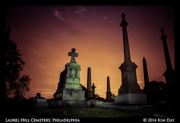Monument Sentries Laurel Hill Cemetry - Philadelphia July 2014 (Kim Day)
