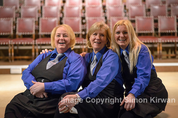 Event Photography Liverpool - Catering ladies, Lutyens Crypt. Event photography Simon Kirwan www.event-photographer.co.uk