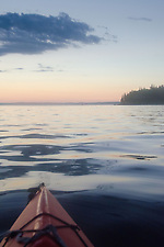 Sunset Over Castine Harbor from Kayak, Castine, Maine, US (Roddy Scheer)