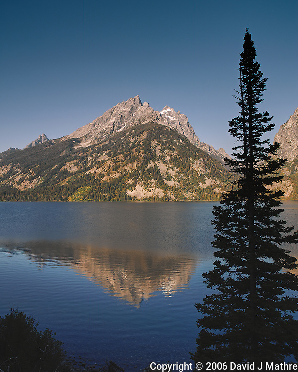 Early Morning Jenny Lake Reflections. Image taken with a Nikon D200 camera and 18-75 mm kit lens (ISO 100, 18 mm, f/5.6, 1/160 sec). (David J Mathre)
