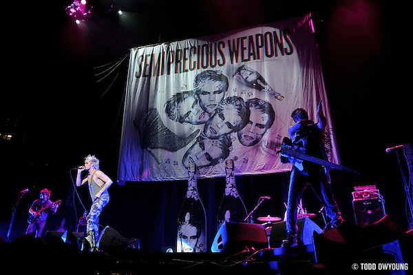 Semi Precious Weapons performing at the Scottrade Center in St. Louis on July 17, 2010 (Todd Owyoung)