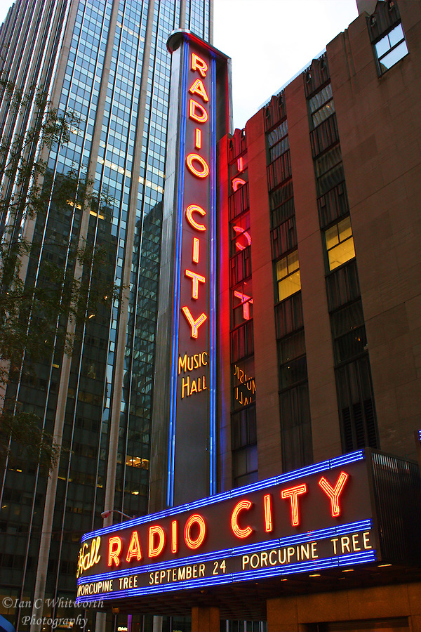 View of the landmark Radio City Music Hall in New York City. (Ian C Whitworth)