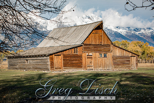 T. A. took over 30 years to build his gable-with-shed style barn. Photographers from around the world stop by T. A. Moulton's barn to capture this iconic historic structure with the Teton Range in the background. (Greg Disch gdisch@gregdisch.com)