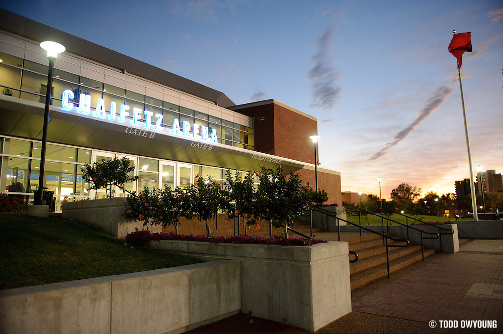 The Chaifetz Arena, photographed just before the start of the Generation LASERS Tour featuring performances by Lupe Fiasco, The New Boyz, Sarah Green and Young Marqus at the Chaifetz Arena on September 29, 2011. Photo by Todd Owyoung. (Todd Owyoung)