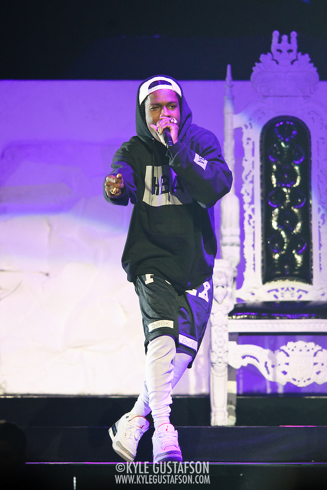 WASHINGTON, DC - APRIL 29TH, 2013 - Rapper A$Ap Rocky performs at the Verizon Center in Washington, D.C. opening for Rihanna on her Diamonds World Tour. (Photo by Kyle Gustafson)
